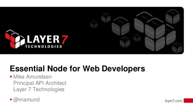 Essential Node.js for Web Developers from Developer Week 2013