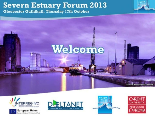 Severn Estuary Partnership Working in partnership for the future of the Severn Estuary  The Upper Estuary Chair: Cllr Mart...