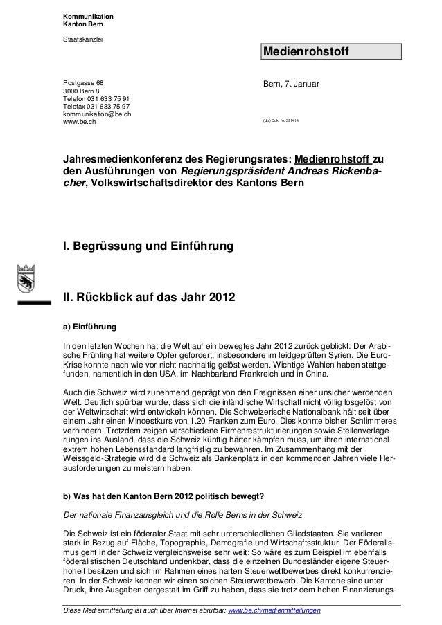 KommunikationKanton BernStaatskanzlei                                                                 MedienrohstoffPostga...