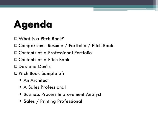 Pitch Book Presentation