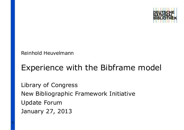Experience with the Bibframe model