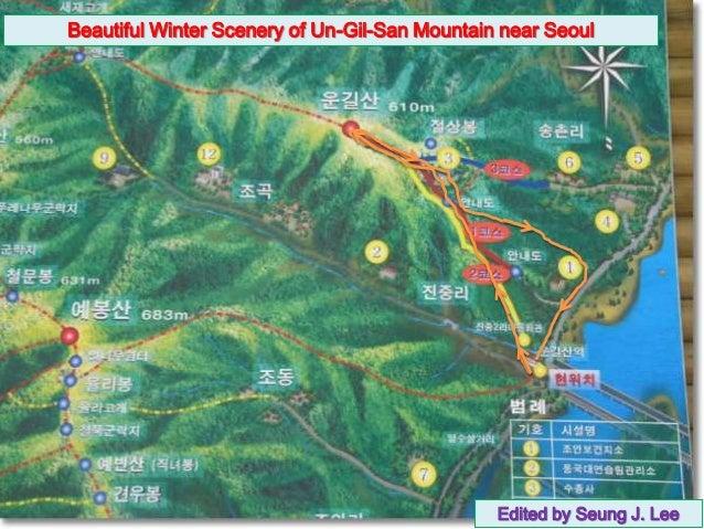Beautiful Winter Scenery of Un-Gil-San Mountain near Seoul