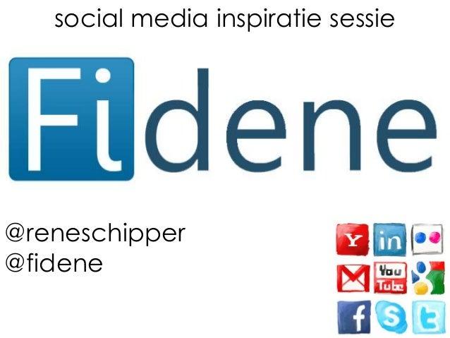 Fidene Social Media inspiratie sessie