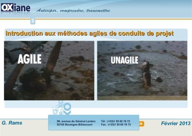 ©Copyright OXIANE- 98, avenue du Gal Leclerc 92100 Boulogne - Tél : +33 1 55 60 76 72 - Fax : +33 1 55 60 76 73 - formatio...