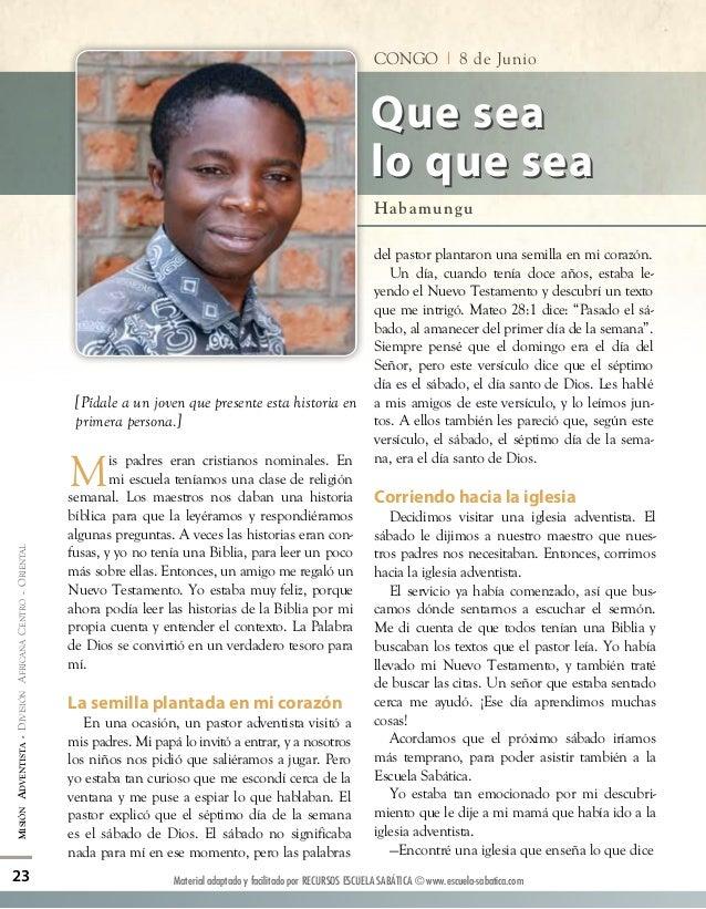 Informe Misionero Mundial para el sabado 08/06/2013
