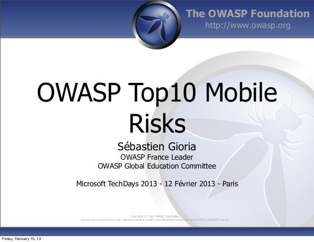 The OWASP Foundation                                                                                                      ...