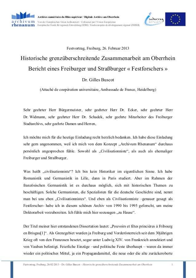 Archives numérisées du Rhin supérieur / Digitale Archive am Oberrhein             Von der Europäischen Union kofinanziert ...