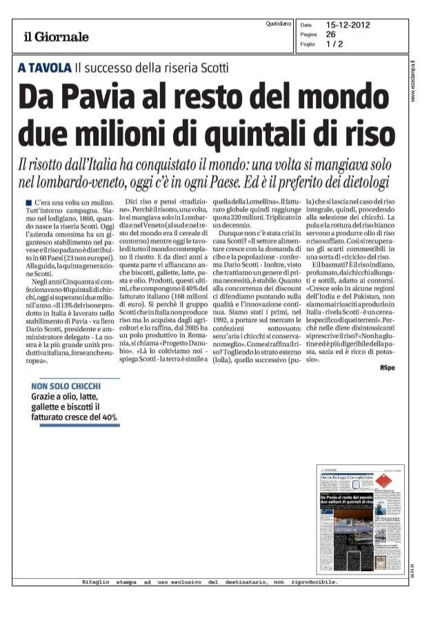 """2012-12 - Da """"Il giornale"""""""