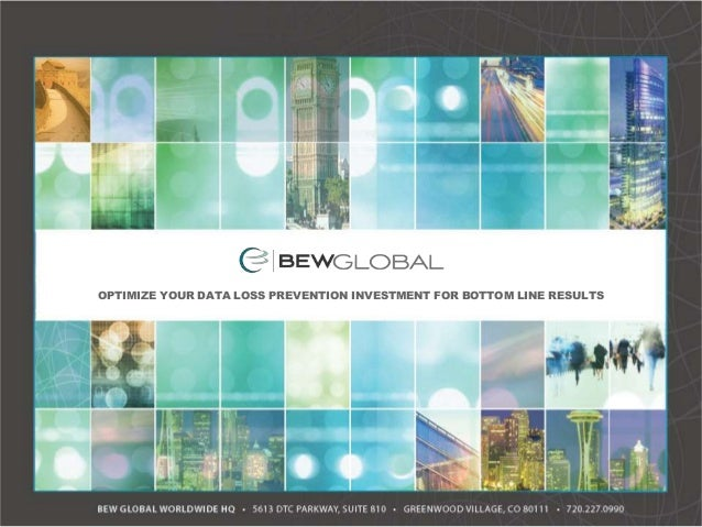 """Raleigh ISSA: """"Optimize Your Data Protection Investment for Bottom Line Results"""" by BEW Global"""