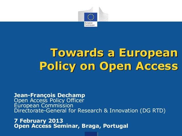 Open Access in the EU (Februry 2013)