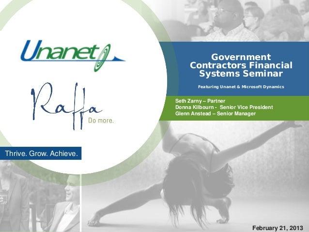 Government                              Contractors Financial                                Systems Seminar              ...
