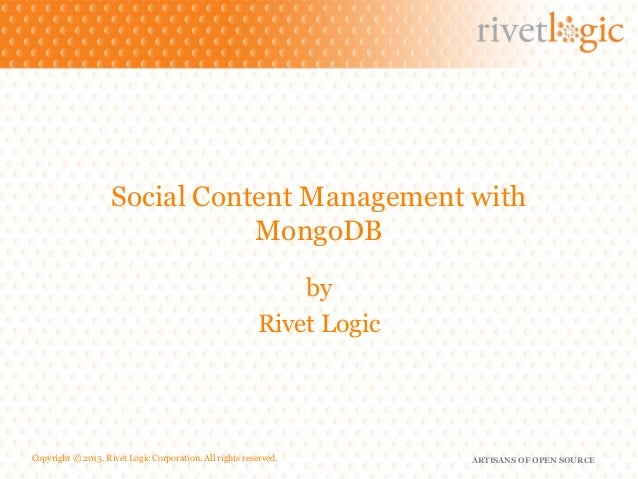 Social Content Management with                               MongoDB                                                      ...
