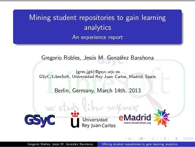Mining student repositories to gain learning                  analytics                             An experience report  ...