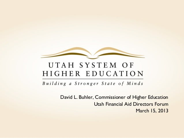 Overview of Utah's System of Higher Education
