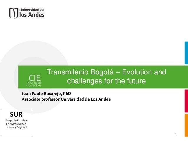 Webinar: Transmilenio Bogotá: Evolution and challenges for the future