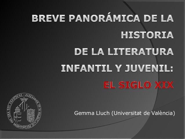 Historia de la Literatura Infantil y Juvenil. Siglo XIX