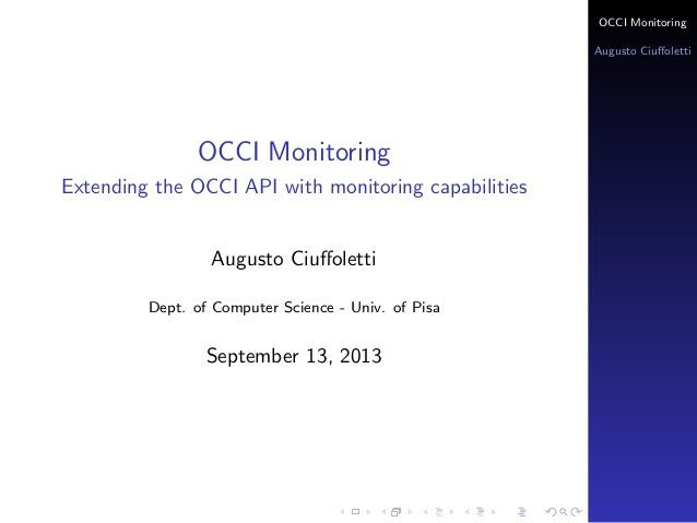 Extending the OCCI API with monitoring capabilities