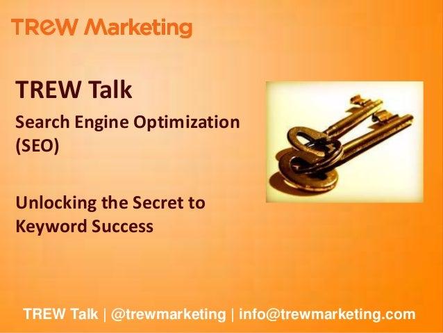 TREW Talk: How to Build a SEO Keyword Strategy