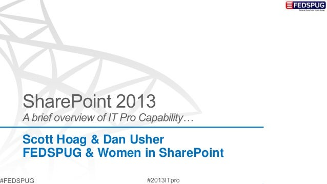 FEDSPUG - SharePoint 2013 - A Brief Capability Overview