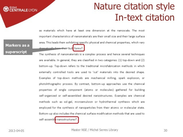 Reference Format Nature Nature citation style ...