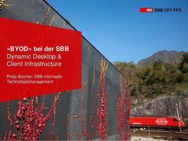 «BYOD» bei der SBB Dynamic Desktop & Client Infrastructure Philip Büchler, SBB Informatik Technologiemanagement