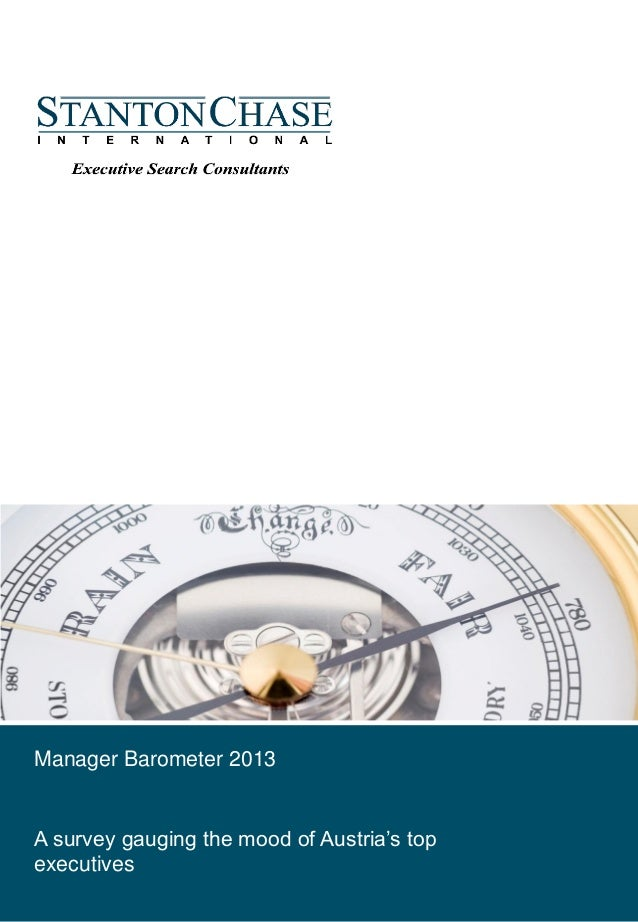 Februar, 2012Manager Barometer 2013A survey gauging the mood of Austria's topexecutives