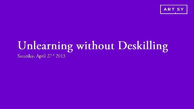 Unlearning without Deskilling