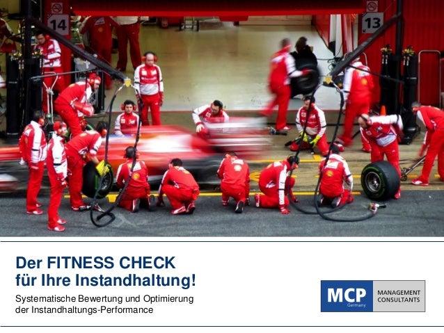 Präsentation: Fitness Check für Ihre Instandhaltung