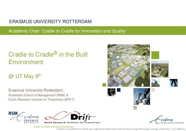 Cradle to Cradle in the Built EnvironmentERASMUS UNIVERSITY ROTTERDAMErasmus University Rotterdam:Rotterdam School of Mana...