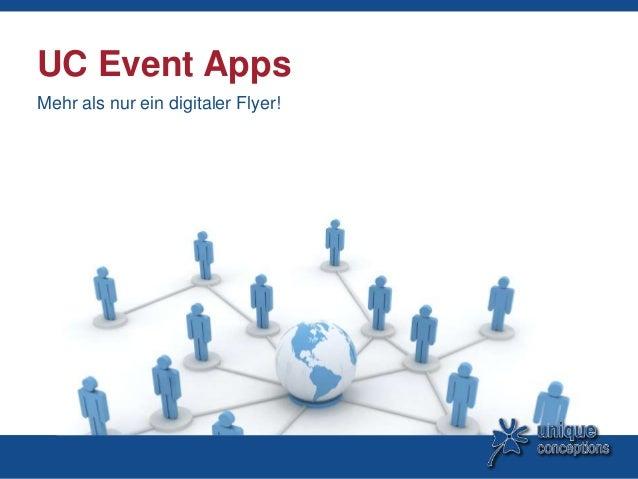 UC Event AppsMehr als nur ein digitaler Flyer!
