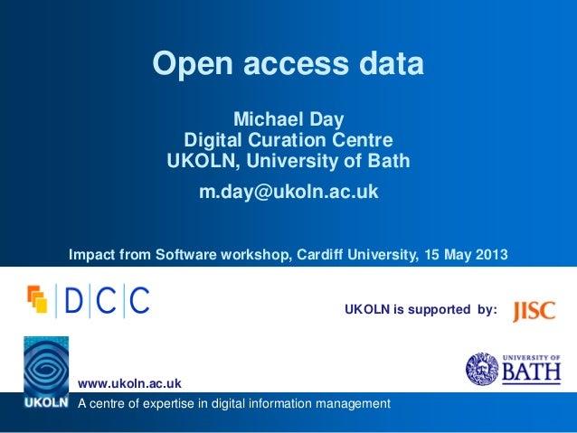 Open access data