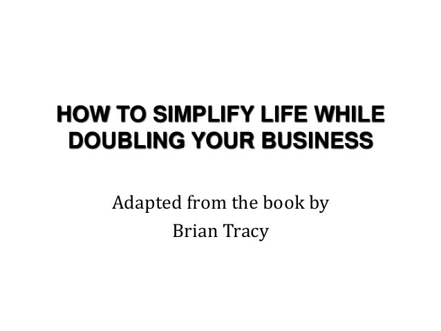 simplify your life book pdf