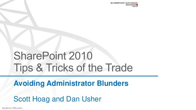 Avoiding Blunders of SharePoint Administration