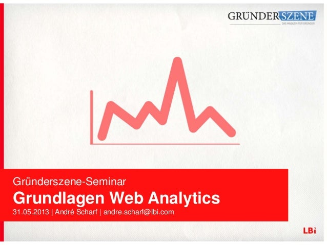 Gründerszene-Seminar Grundlagen Web Analytics 31.05.2013 | André Scharf | andre.scharf@lbi.com