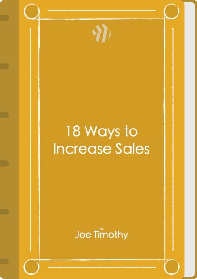 18 ways to increase sales