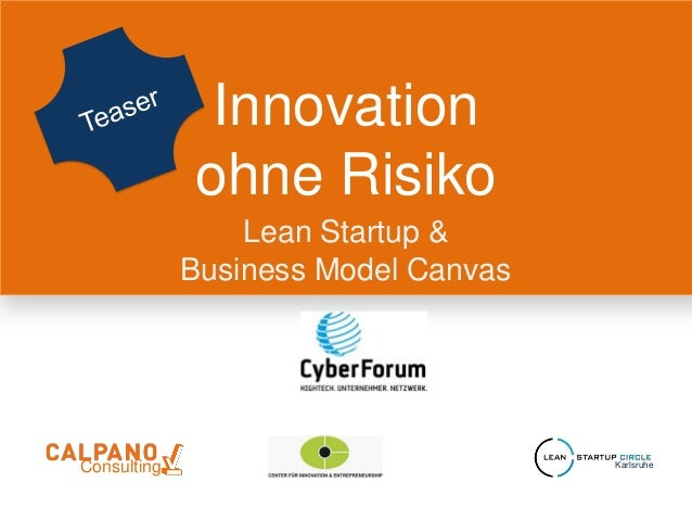 Innovationohne RisikoLean Startup &Business Model CanvasConsulting Karlsruhe