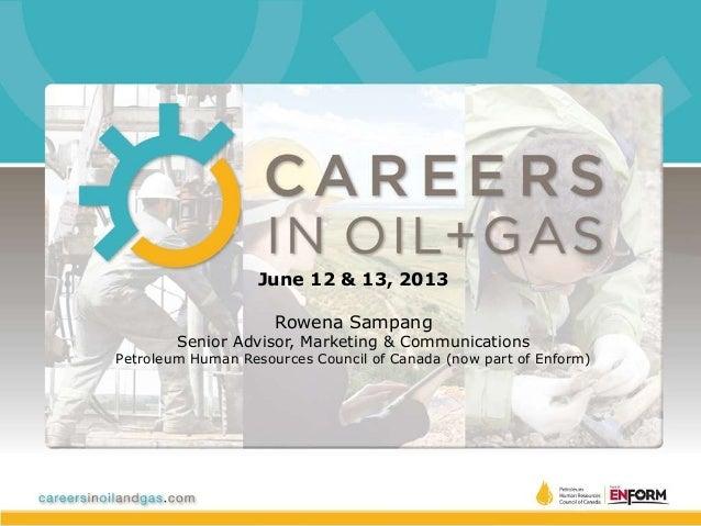 Global Energy Career Expo 2013 Presentation