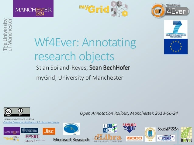 2013 06-24 Wf4Ever: Annotating research objects (PDF)