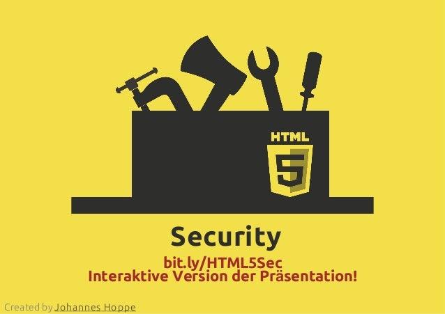 2013-06-25 - HTML5 & JavaScript Security