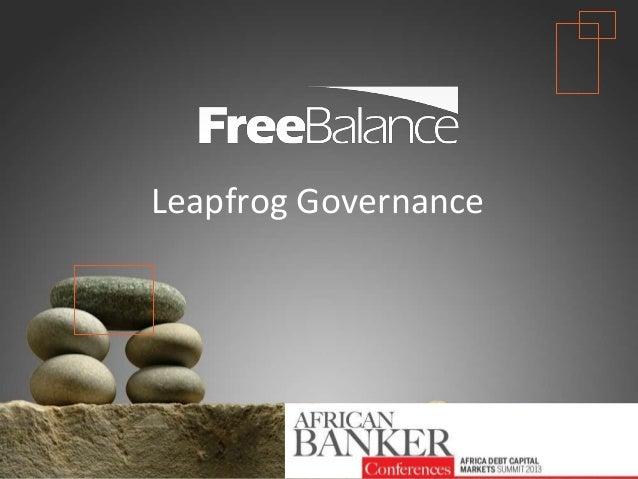 Technology Leapfrog Opportunity for Africa Government & Central Bank Governance