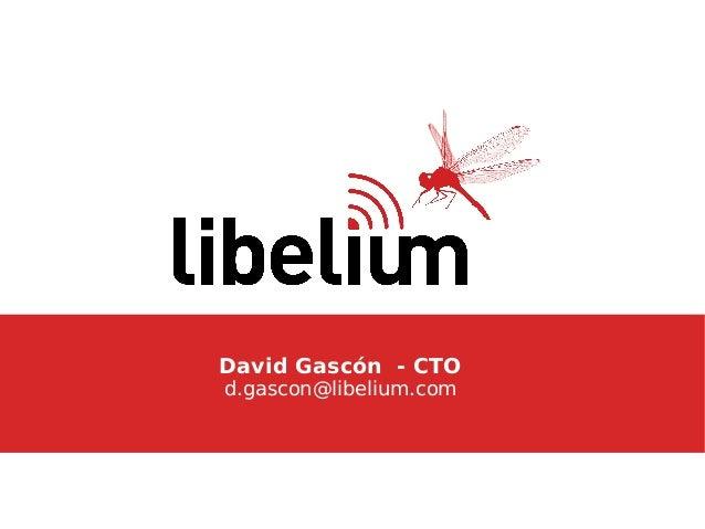 David Gascón - CTOd.gascon@libelium.com