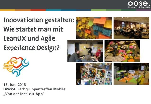 """Unternehmenspräsentation18. Juni 2013DiWiSH Fachgruppentreffen Mobile:""""Von der Idee zur App"""""""