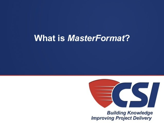 MasterFormatcom