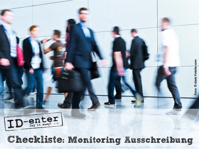 Checkliste: Monitoring Ausschreibung Foto:©davisFotolia-com