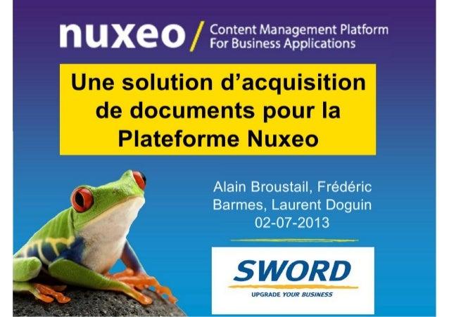 Solution d'acquisition de documents avec Spi2 scan - Sword