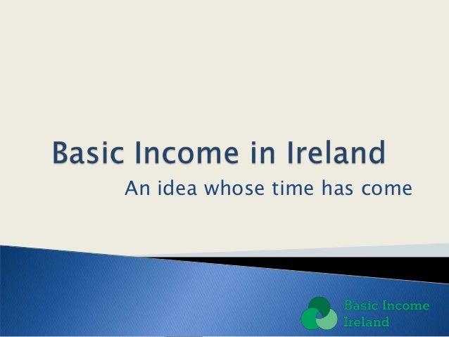 Basic Income Ireland introductory presentation