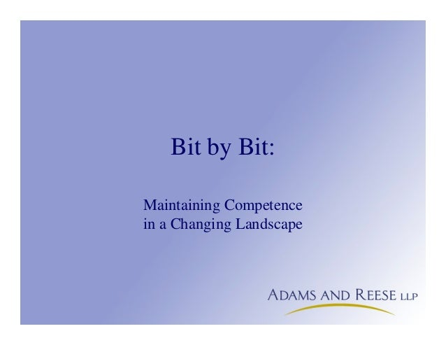 Bit by Bit: Maintaining Competence in a Changing Landscape