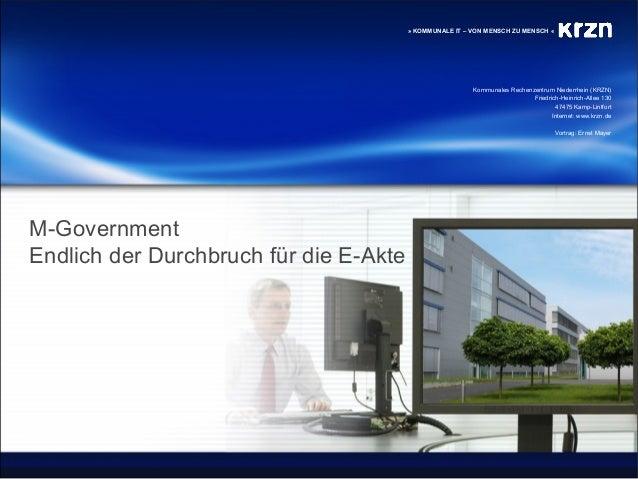 Kommunales Rechenzentrum Niederrhein (KRZN) Friedrich-Heinrich-Allee 130 47475 Kamp-Lintfort Internet: www.krzn.de » KOMMU...