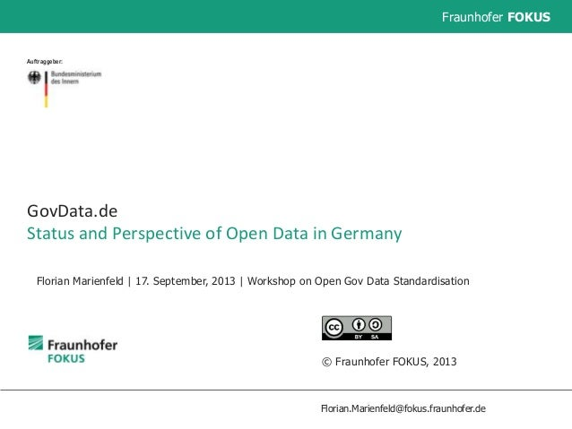 GovData.de - Status and Perspective of Open Data in Germany