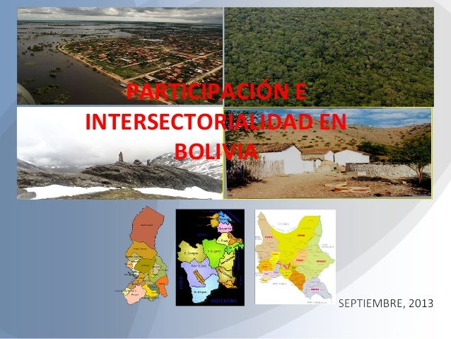 PARTICIPACIÓN E INTERSECTORIALIDAD EN BOLIVIA